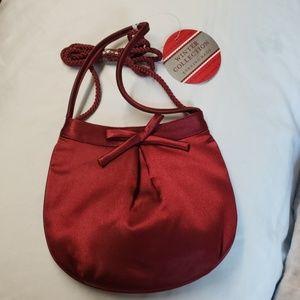 Handbags - Red sateen evening handbag purse clutch wristlet